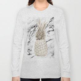 Marble Pineapple Long Sleeve T-shirt