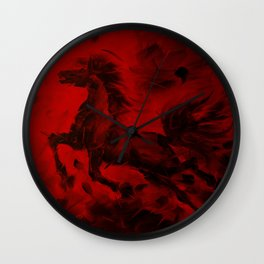 HORSE - RED Wall Clock