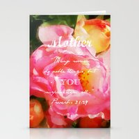 bible verse Stationery Cards featuring Roses - Verse by Anita Faye
