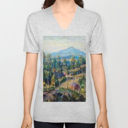 Ernest Lawson New England Birches Unisex V-Neck