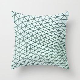 british museum roof texture Throw Pillow