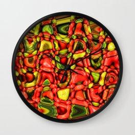 cheeky vegetables Wall Clock