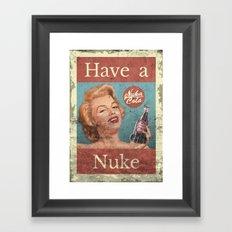 Nuka Cola - Custom Fallout Ad Framed Art Print