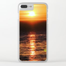 San Pedro Golden Sunset Clear iPhone Case