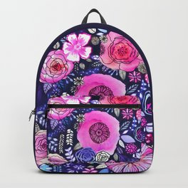 Ultraviolet Floral Mix Backpack