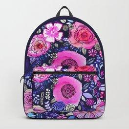Ultraviolet Floral Mix Backpack