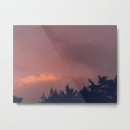 Sunset over the Trees Metal Print