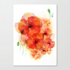 Tall poppies Canvas Print