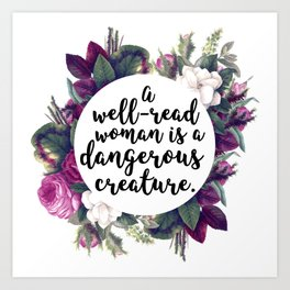 A well read woman Art Print