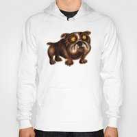 bulldog Hoodies featuring Bulldog by Riccardo Pertici