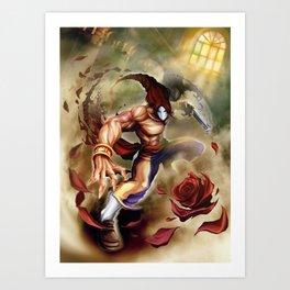 Vega Street Fighter Art Print