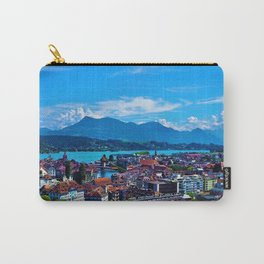 Lake Lucerne, Switzerland Chapel Covered Bridge Panaromic View Carry-All Pouch