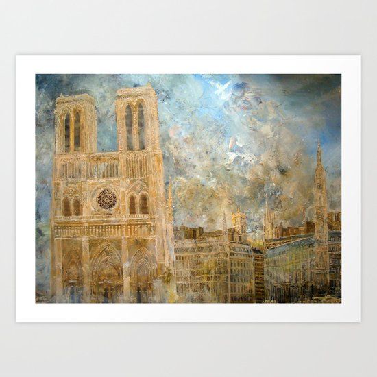 Notre Dame France April 2011 Art Print