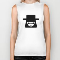 vendetta Biker Tanks featuring v vendetta by atipo