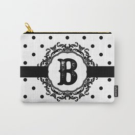 Black Monogram: Letter B Carry-All Pouch