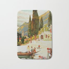 Switzerland and Italy Via St. Gotthard Travel Poster Bath Mat