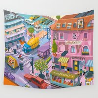 budapest Wall Tapestries featuring My little Budapest by Zsolt Vidak