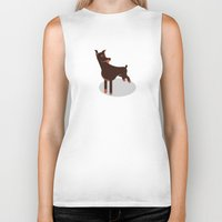 doberman Biker Tanks featuring Doberman by Paul Turcanu