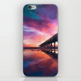 The Pier Sunset iPhone Skin