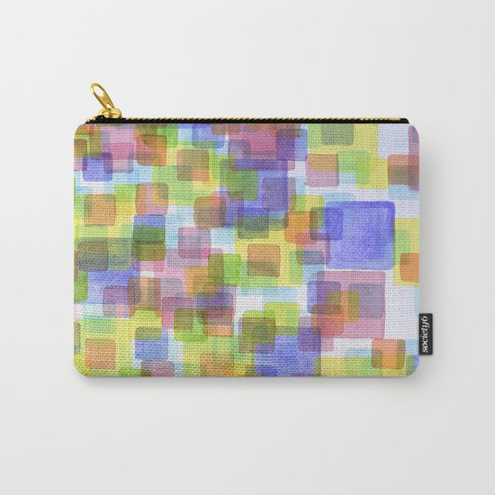 Floating Lightfull Squares  Carry-All Pouch