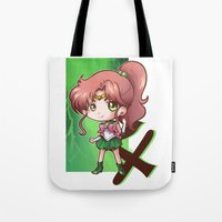 sailor jupiter Tote Bags featuring Jupiter by Lady Cibia