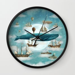 Ocean Meets Sky - revised Wall Clock