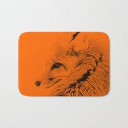 red fox digital acryl painting acrob Bath Mat