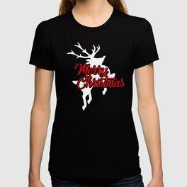 New Christmas Merry Christmas Flying Reindeer T-shirt