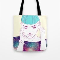 grimes Tote Bags featuring GRIMES by Nuk_
