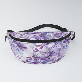 Dragonfly Lullaby in Pantone Ultraviolet Purple Fanny Pack