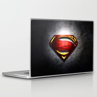 man of steel Laptop & iPad Skins featuring Man of Steel by bimorecreative