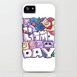 Llamaday family photo group gift iPhone Case