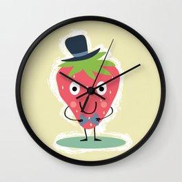 Elegant Strawberry Wall Clock
