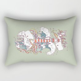 Whales and Waves Rectangular Pillow