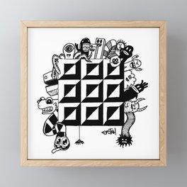 Monster bunch Framed Mini Art Print