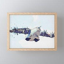 A400M Atlas C1 watercolor by Ahmet Asar Framed Mini Art Print