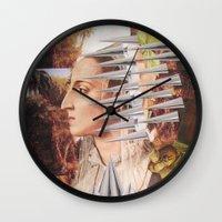 iron maiden Wall Clocks featuring Laura The Iron Maiden by MELANCHOLIE (mit MONSTERN)