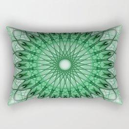 Delicate green mandala Rectangular Pillow