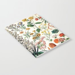 Adolphe Millot - Fleurs B - French vintage poster Notebook