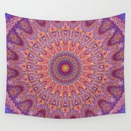 Purple Orange Red Burst Mandala 012018 Wall Tapestry