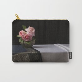 Roses and silk still life Carry-All Pouch