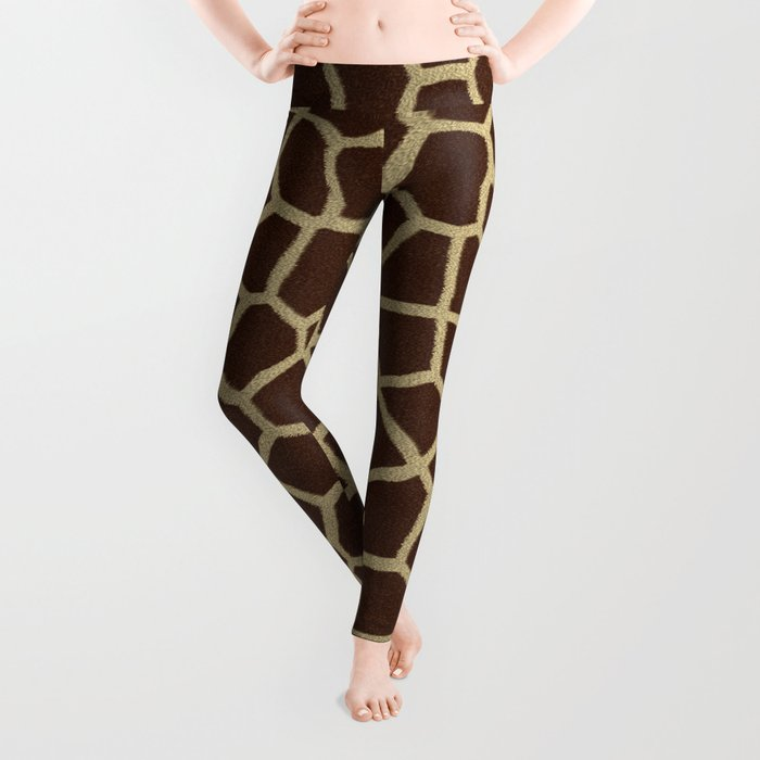 a341ce5e3e711 Giraffe Print Pattern Leggings by mesutok | Society6