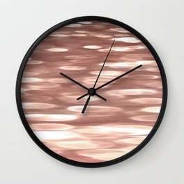 Rose gold copper shimmer Wall Clock