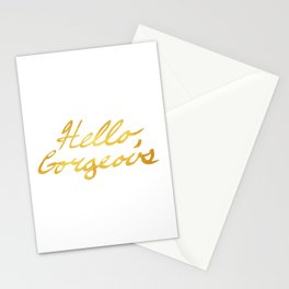 Hello, Gorgeous Gold Stationery Cards