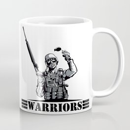 Soldier with rifle and grenade  Coffee Mug