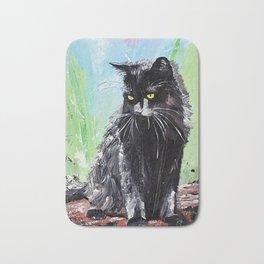 My little cat - kitty - animal - by LiliFlore Bath Mat