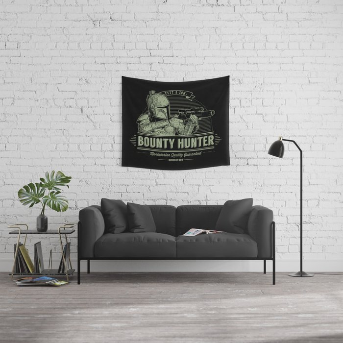 Galactic Bounty Hunter Wall Tapestry