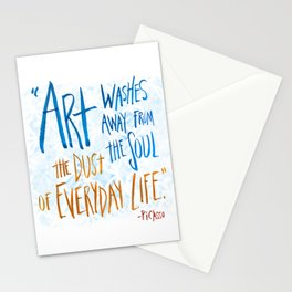 Picasso Quote Stationery Cards