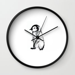 Peguin 2 Wall Clock