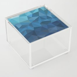 blue geometric Acrylic Box